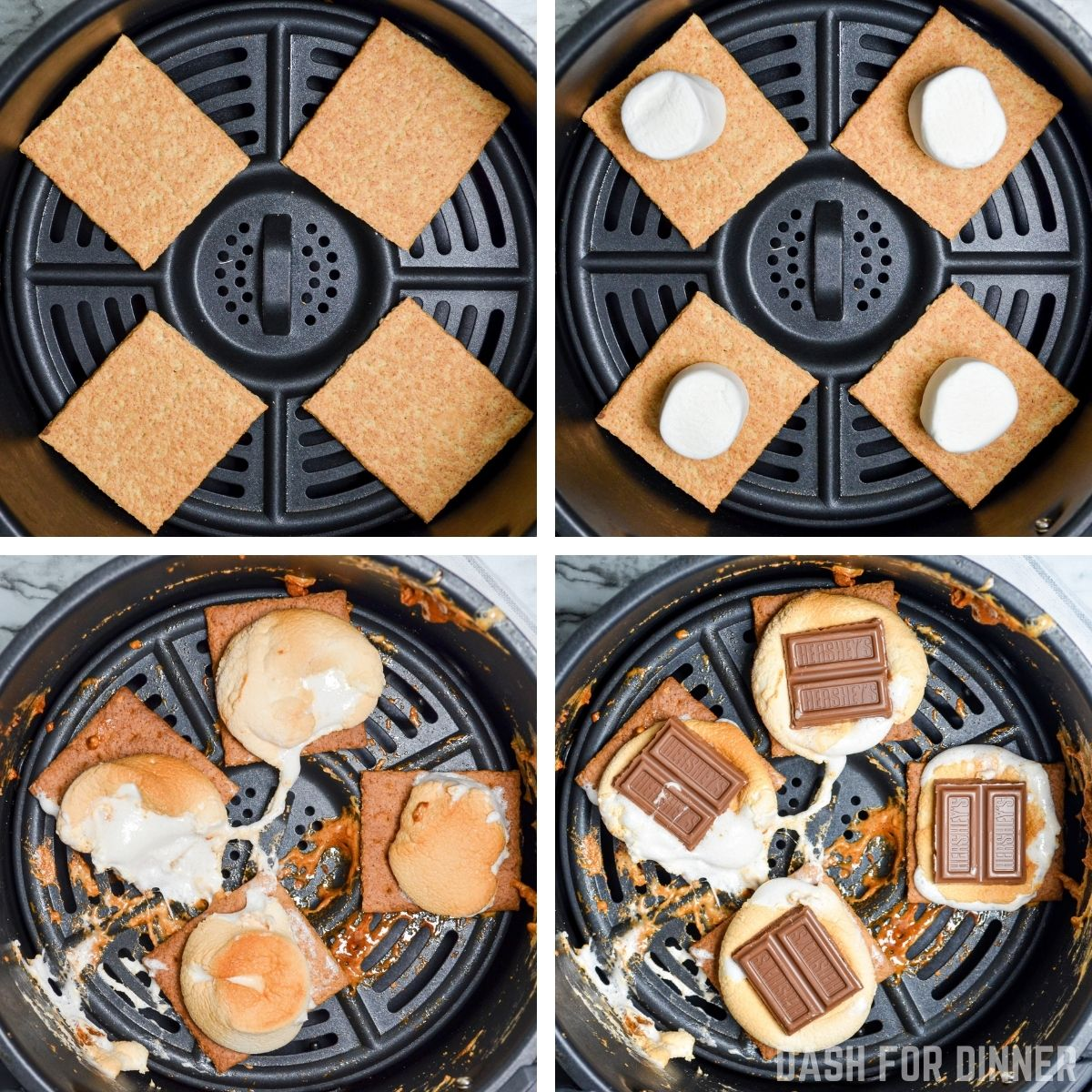 how to make air fryer smores