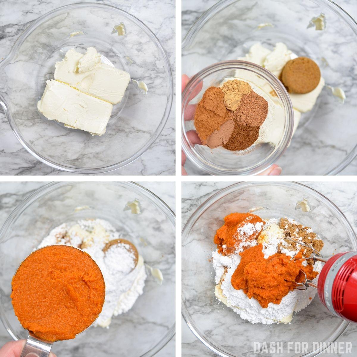 How to make no bake pumpkin cheesecake filling.