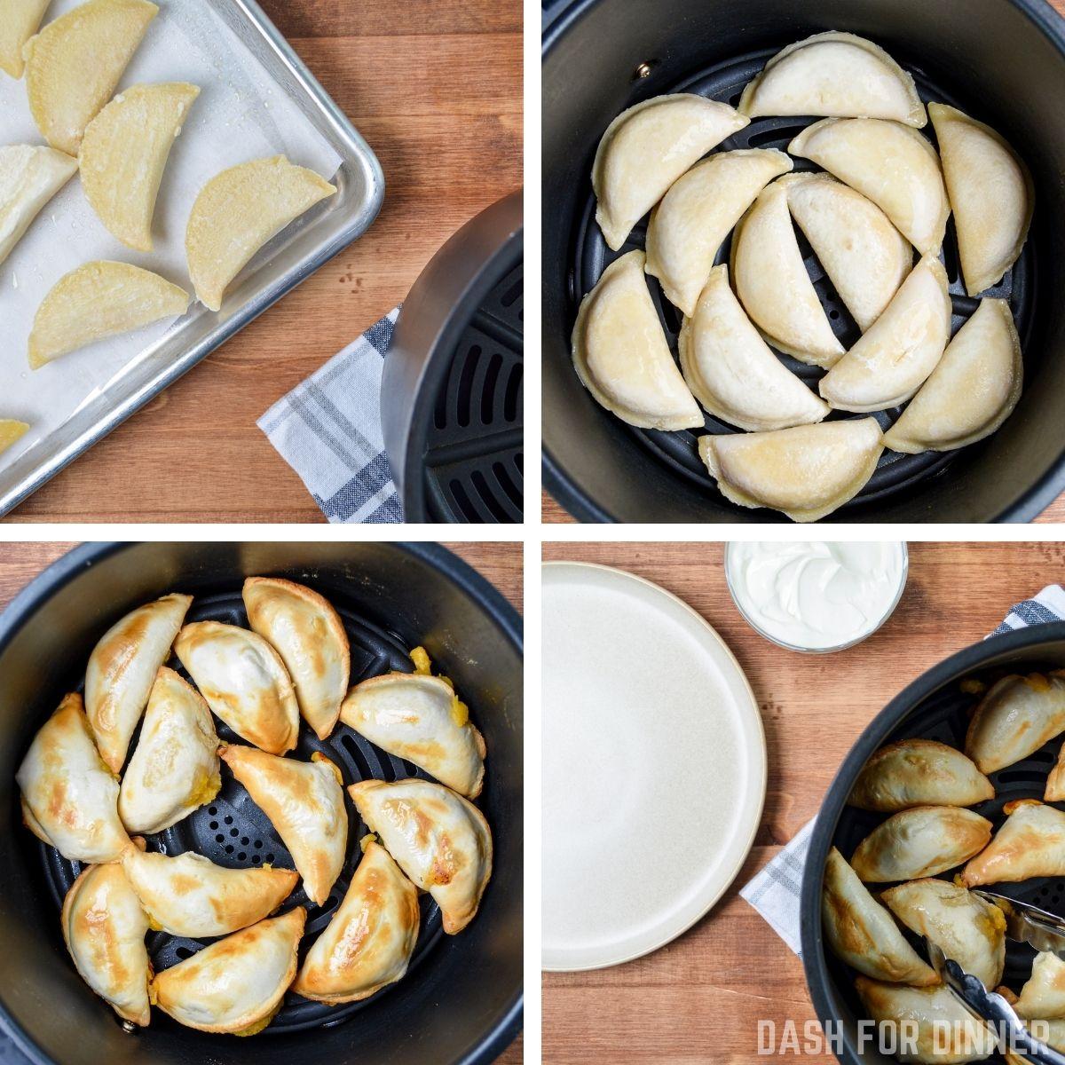 How to make frozen pierogies in the air fryer.