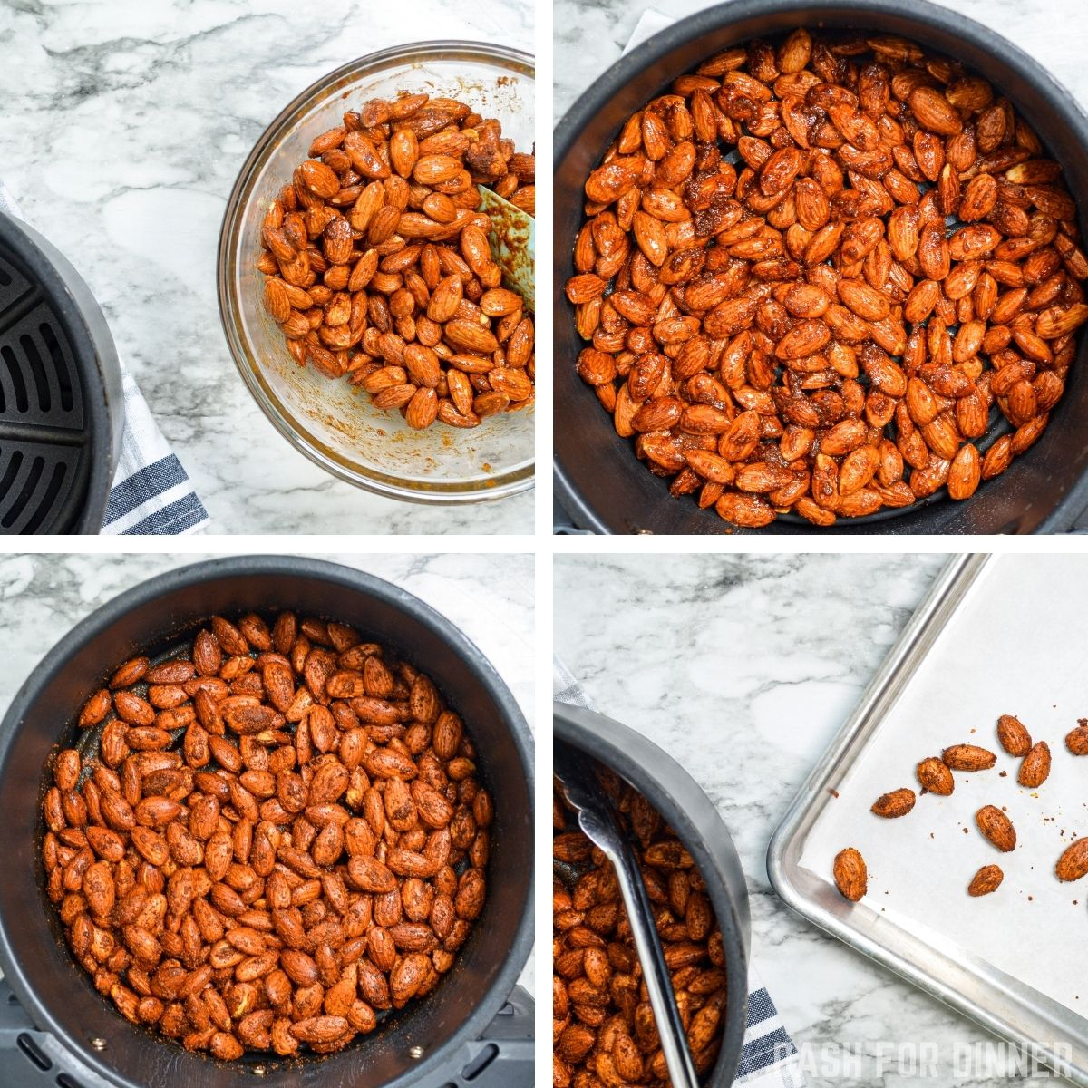 How to make roasted almonds in the air fryer.