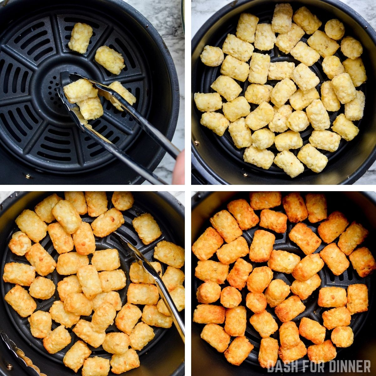 How to make tater tots in the air fryer.