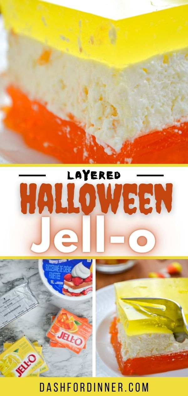 3 layers of jello with a cool whip and cream cheese center layer.